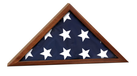 Genuine Walnut Flag Display Case