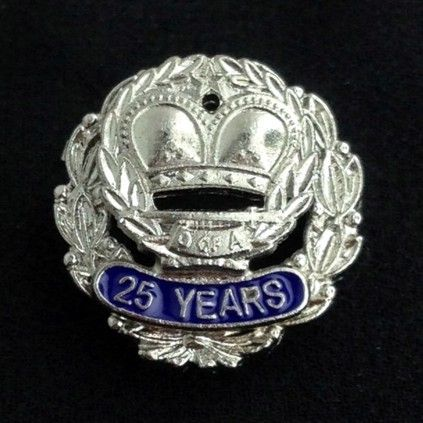 Order of Amaranth 25 Year Pin Silver New