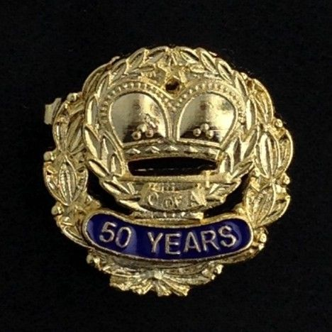 Order of Amaranth 50 Year Pin Gold New