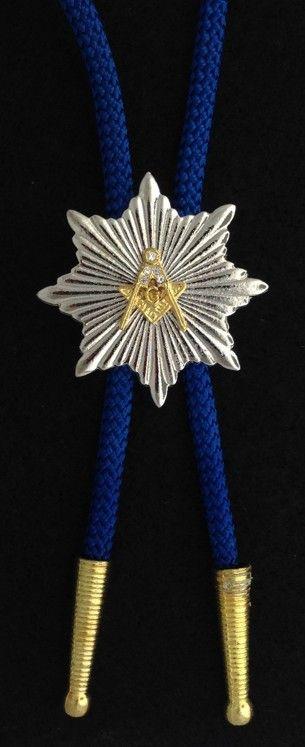 Masonic Emblem Bolo Tie New For Sale