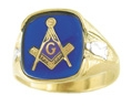 Masonic Blue Lodge Ring Gold New For Sale