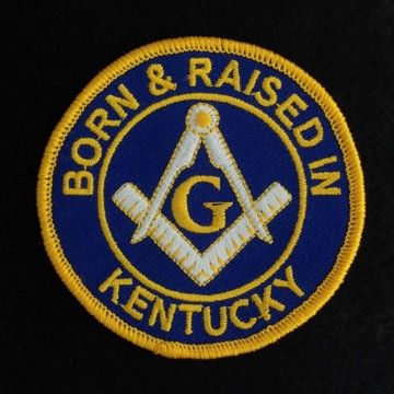 Masonic Born Raised Kentucky Patch New