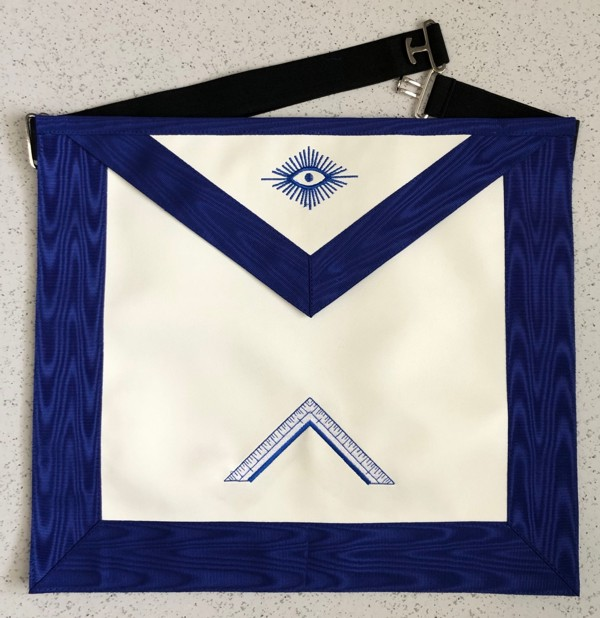 Lodge Officer Apron - Imitation Leather with Grosgrain Ribbon