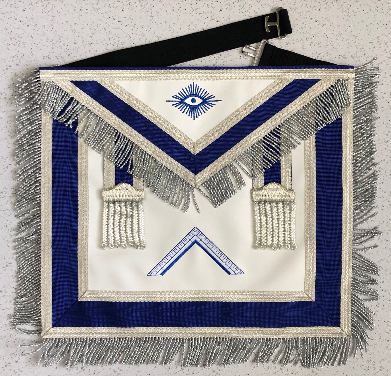 Lodge Officer Apron - Imitation Leather with Tassels & Fringe