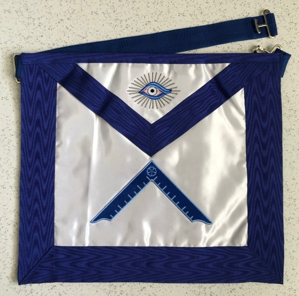 Lodge Officer Apron - Satin with Grosgrain Ribbon