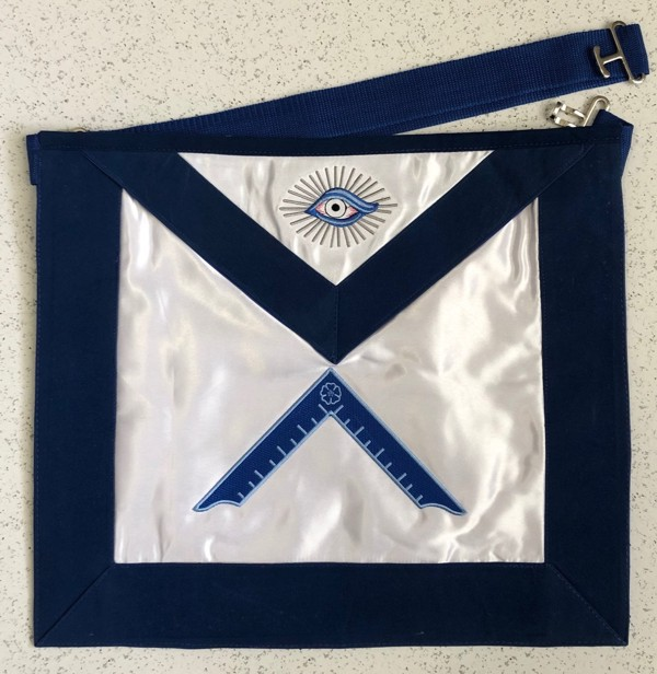 Lodge Officer Apron - Satin with Velvet Ribbon