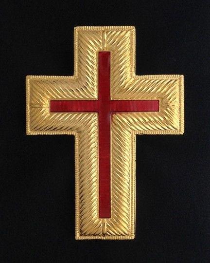 Knight Templar Cap Cross Gold New