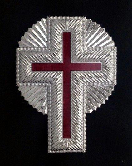 Knight Templar Cap Cross Rays Silver New