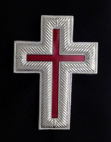 Knight Templar Cap Cross Silver New