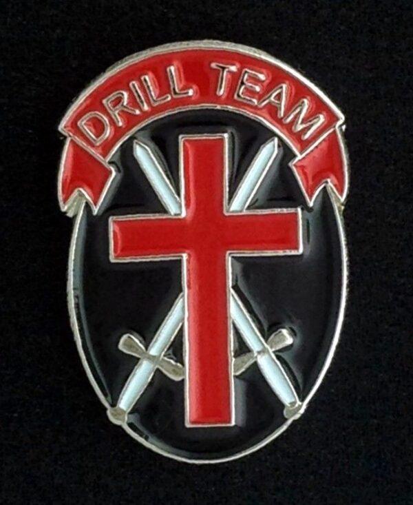 Knight Templar Drill Team Lapel Pin New