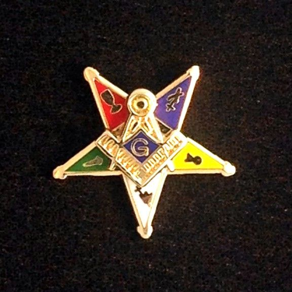 Order of Eastern Star Past Patron Lapel Pin New