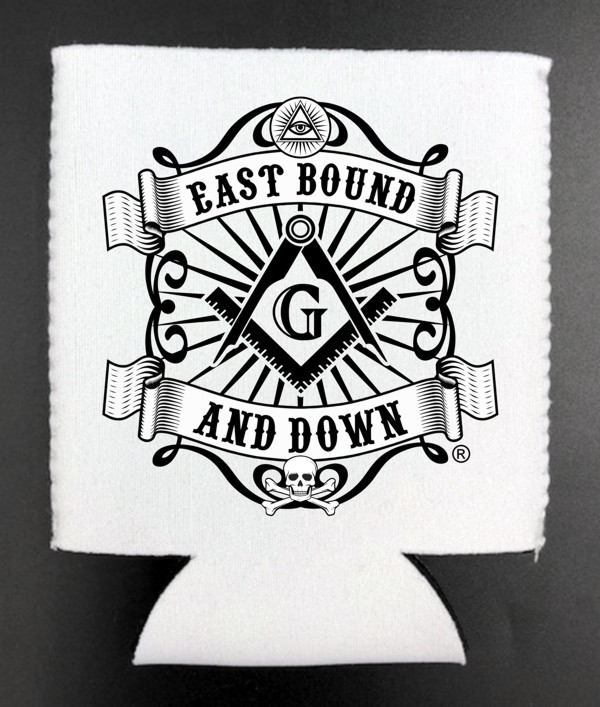 Masonic East Bound & Down® Can Cooler