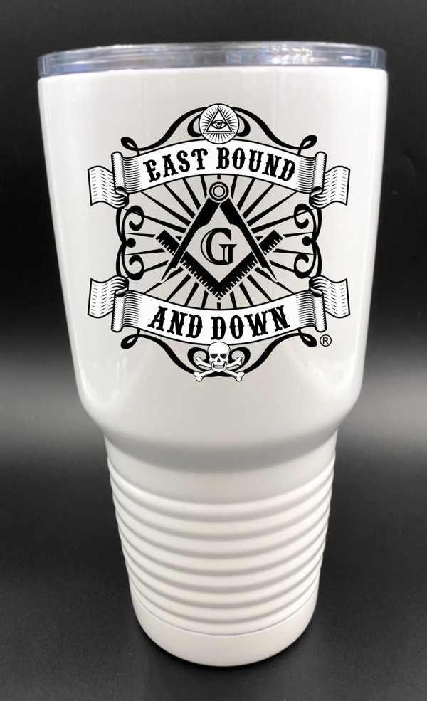 Masonic East Bound & Down® 30oz. Stainless Steel White Travel Cup