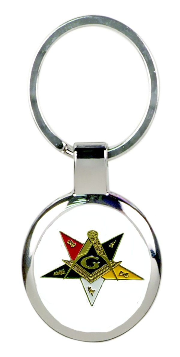 Eastern Star Past Patron Full Color Key Tag (Silver)
