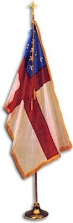 Deluxe Crown Episcopal Flag Set (4' x 6' w/9' Pole)