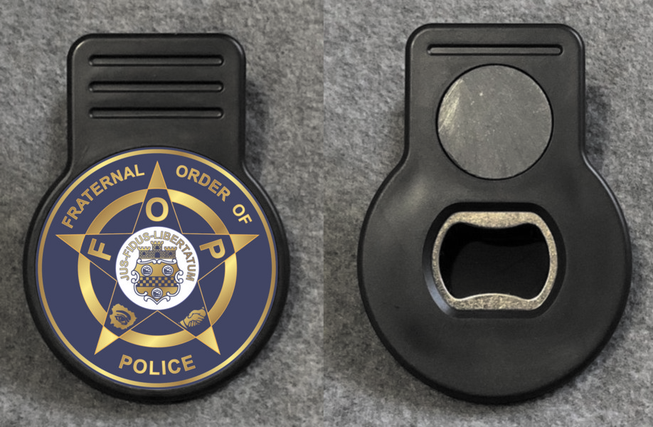 Fraternal Order of Police Memo Magnet with Bottle Opener