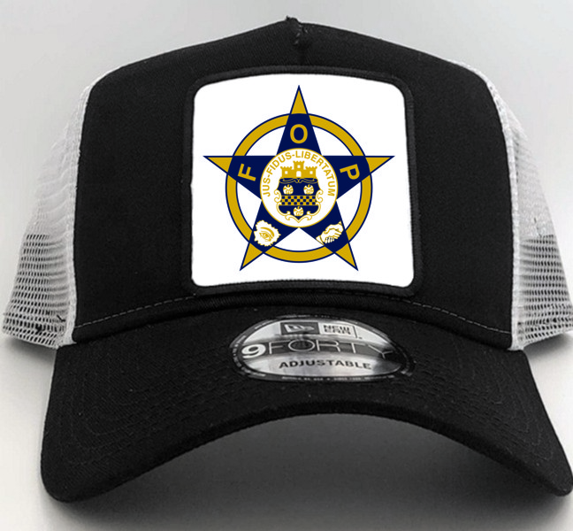 Fraternal Order of Police New Era Cap in Black with Square Patch (1)