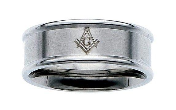 Masonic Blue Lodge Ring Stanless Steel New