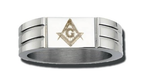 Masonic Ring in Stainless Steel