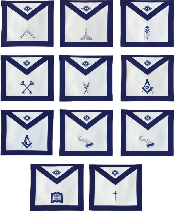 Masonic Lodge Officer Apron Set New For Sale