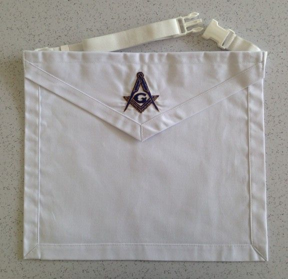 Master Mason's Cloth Apron (MCA-1MM) - Click Image to Close