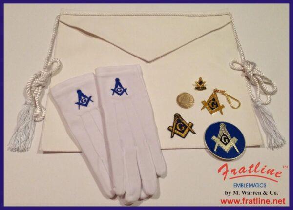 Masonic Master Mason Apron Gift Set