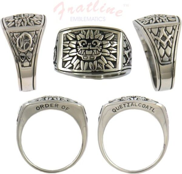 Order of Quetzalcoatl Stainless Steel Member Ring New Fratline