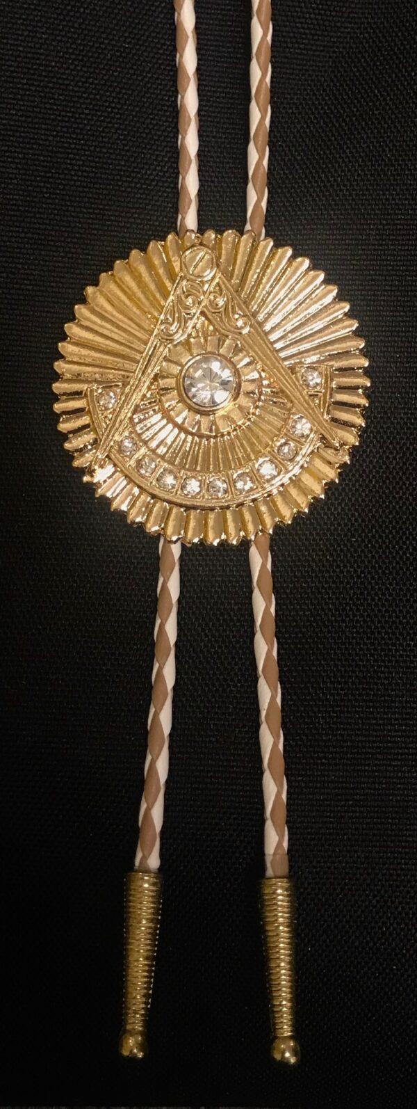 Masonic Past Master Bolo Tie Rhinestones New For Sale
