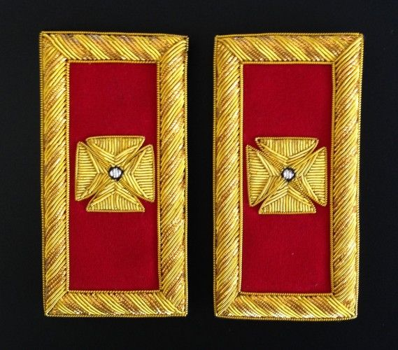 Grand Commandery Shoulder Boards Bullion New