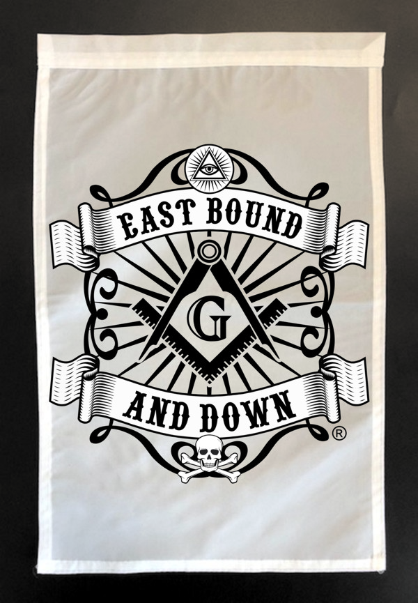Masonic East Bound and Down Garden Flag
