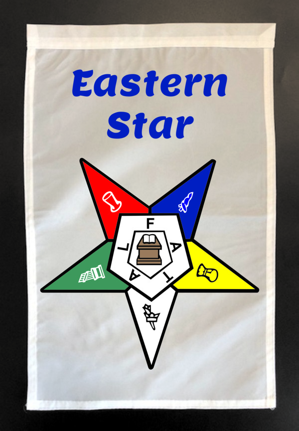 Order of the Eastern Star Garden Flag - Version 2