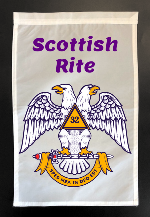 Scottish Rite Garden Flag