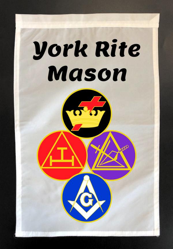 York Rite Mason Garden Flag