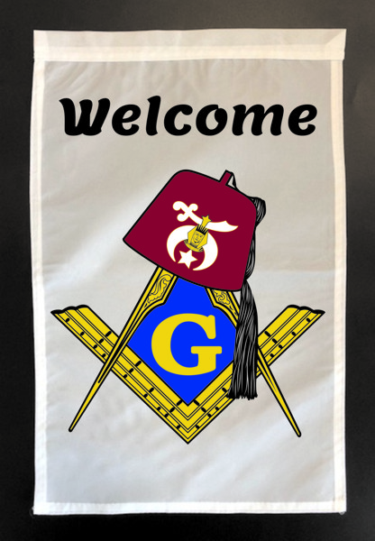 "Masonic & Shrine ""Welcome"" Garden Flag"