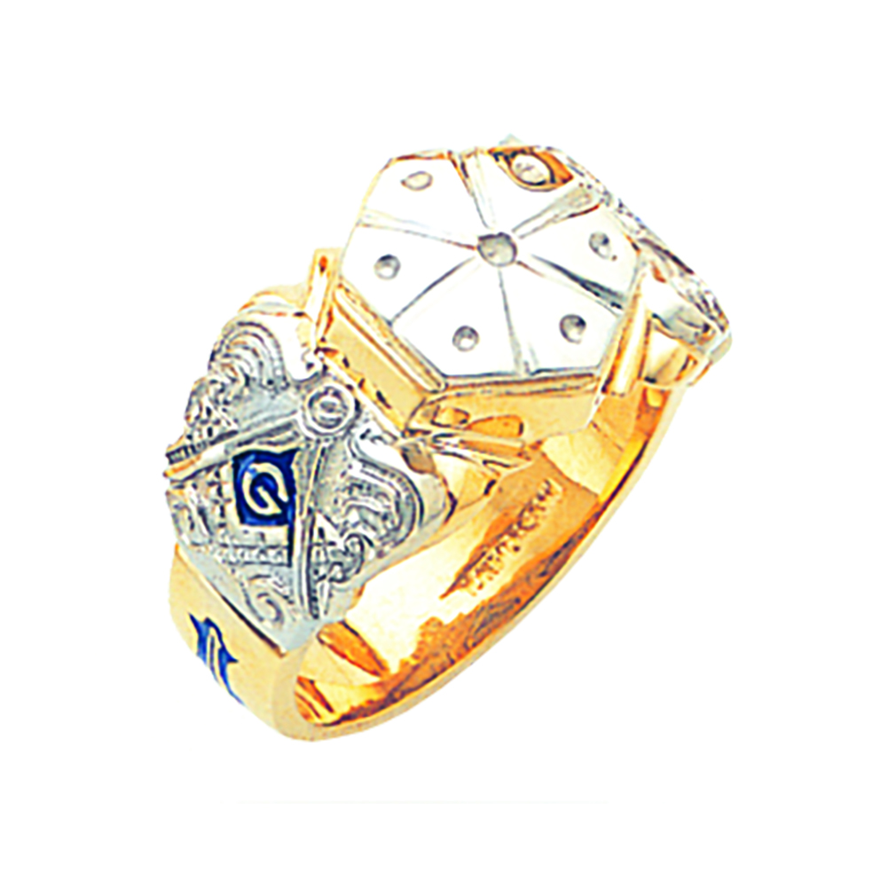 Masonic Ring Mounting - Open Back in 10K Gold
