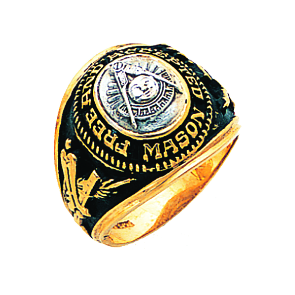 Masonic Past Master Ring - Open Back in 10K Gold (36)