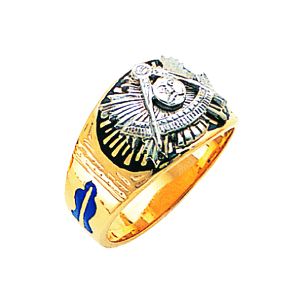 Masonic Past Master Ring - Solid Back in 10K Gold (34)