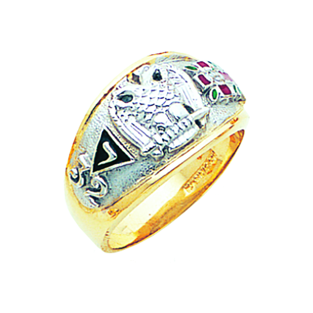 Scottish Rite Ring - Concave Back in 10K Gold (49)