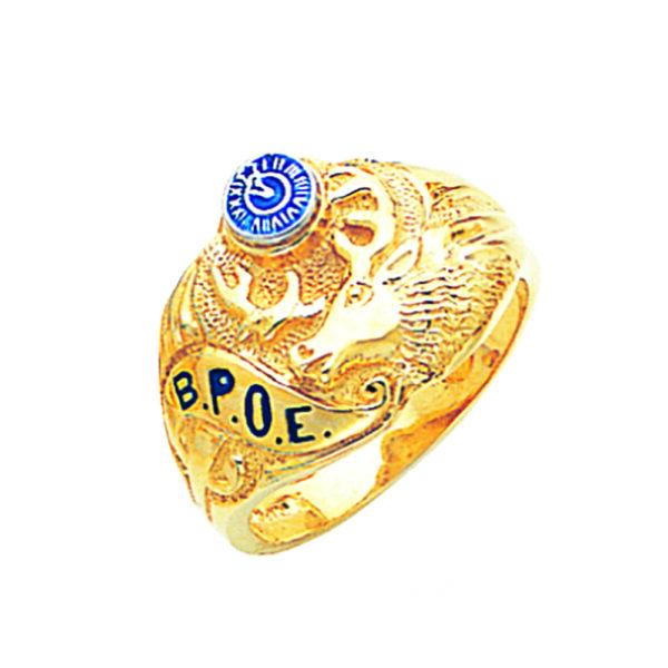 BPOE Elks Ring Gold New For Sale