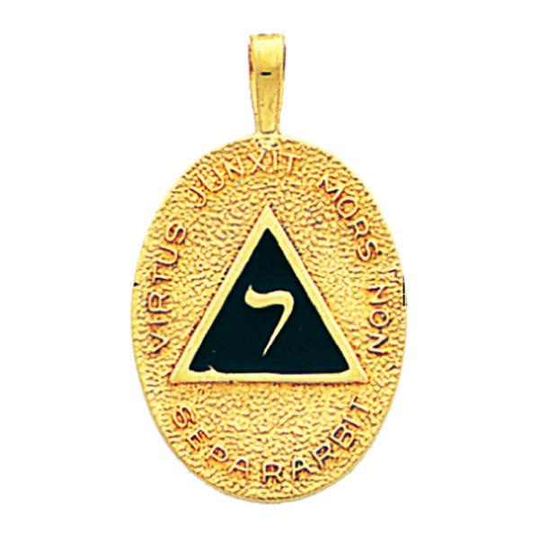 Scottish Rite 14th Degree Pendant Gold New