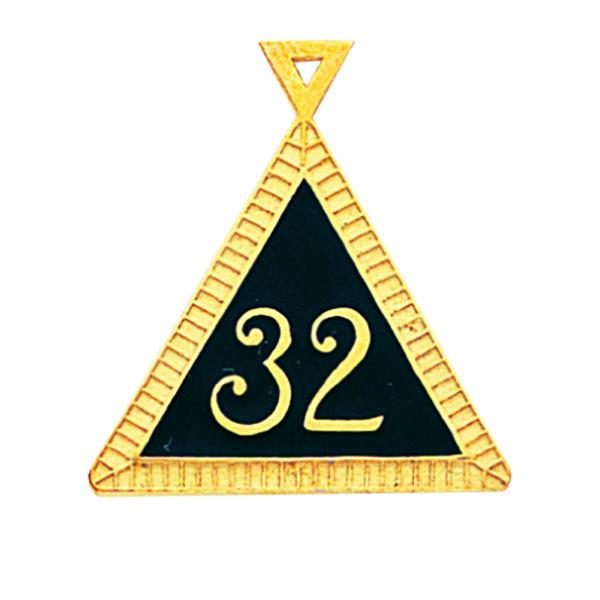 Scottish Rite 32nd Degree Pendant Gold New