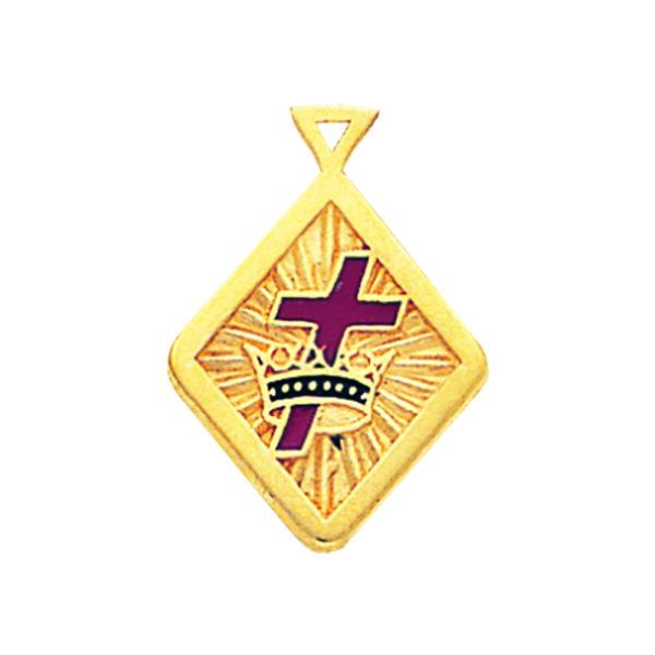 Masonic Knight Templar Pendant Gold New
