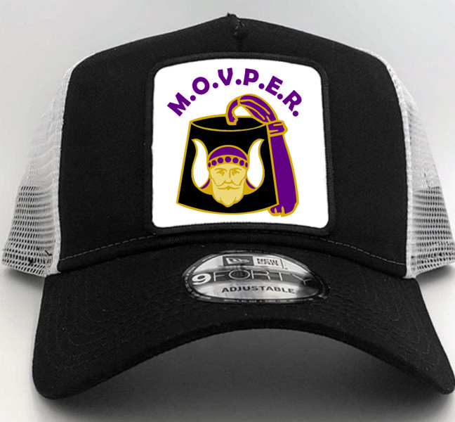 Grotto Past Monarch New Era Cap in Black with Square Patch