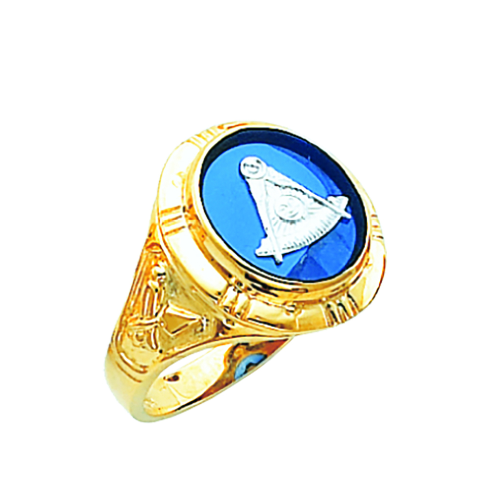 Masonic Past Master Ring - Open Back in 10K Gold (7)