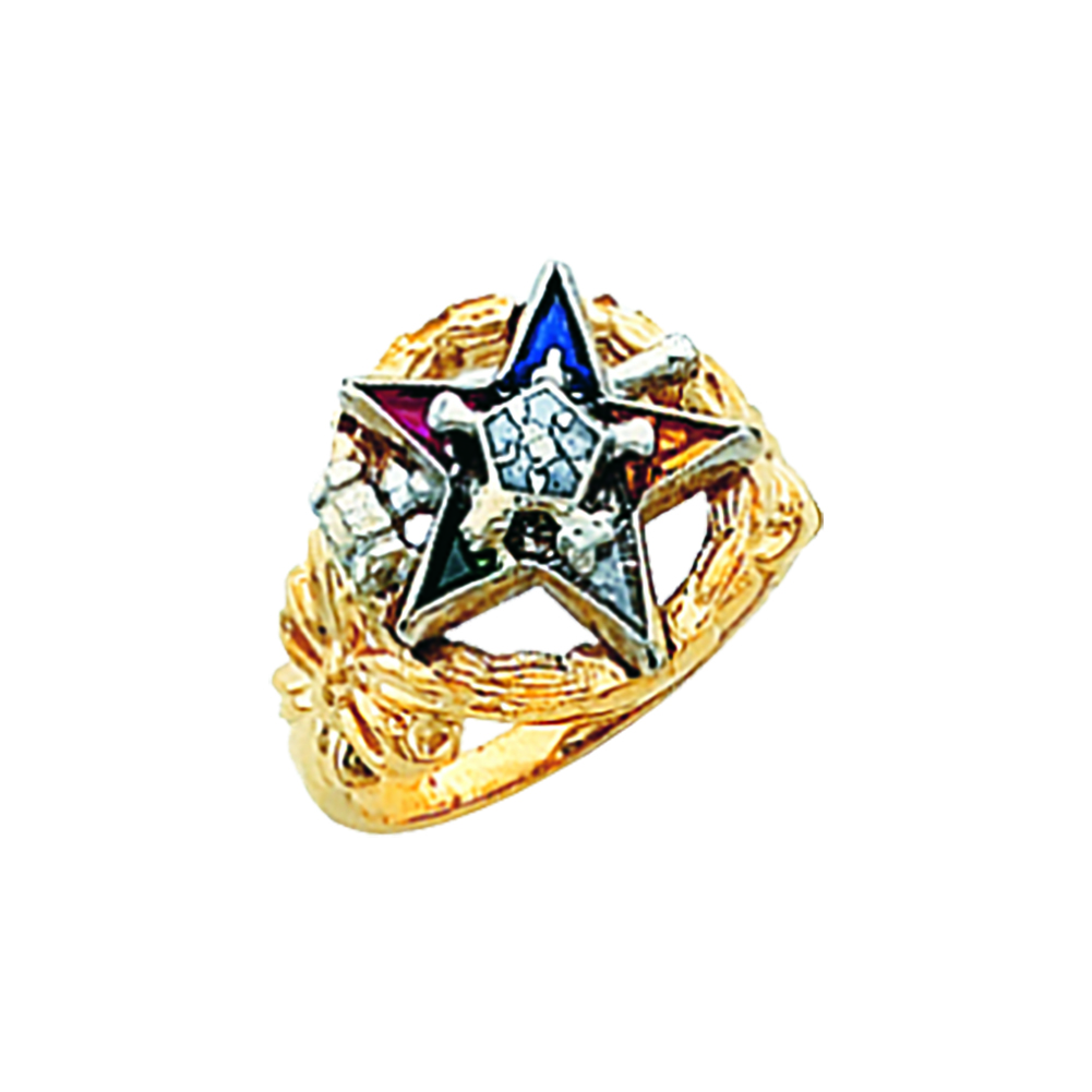 Eastern Star Past Matron Ring - 10K Gold (5)