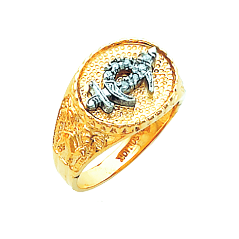 Shriner Ring - Open Back in 10K Gold (12)