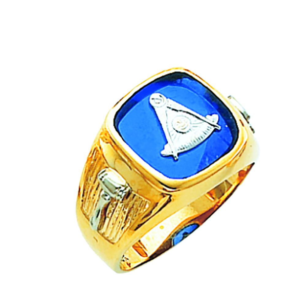 Masonic Past Master Ring - Open Back in 10K Gold (9)