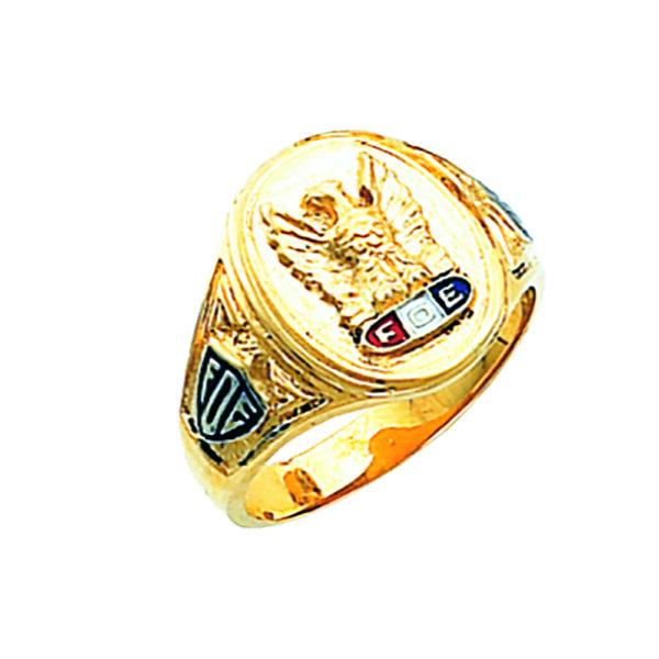 Fraternal Order of Eagles Ring Gold New For Sale
