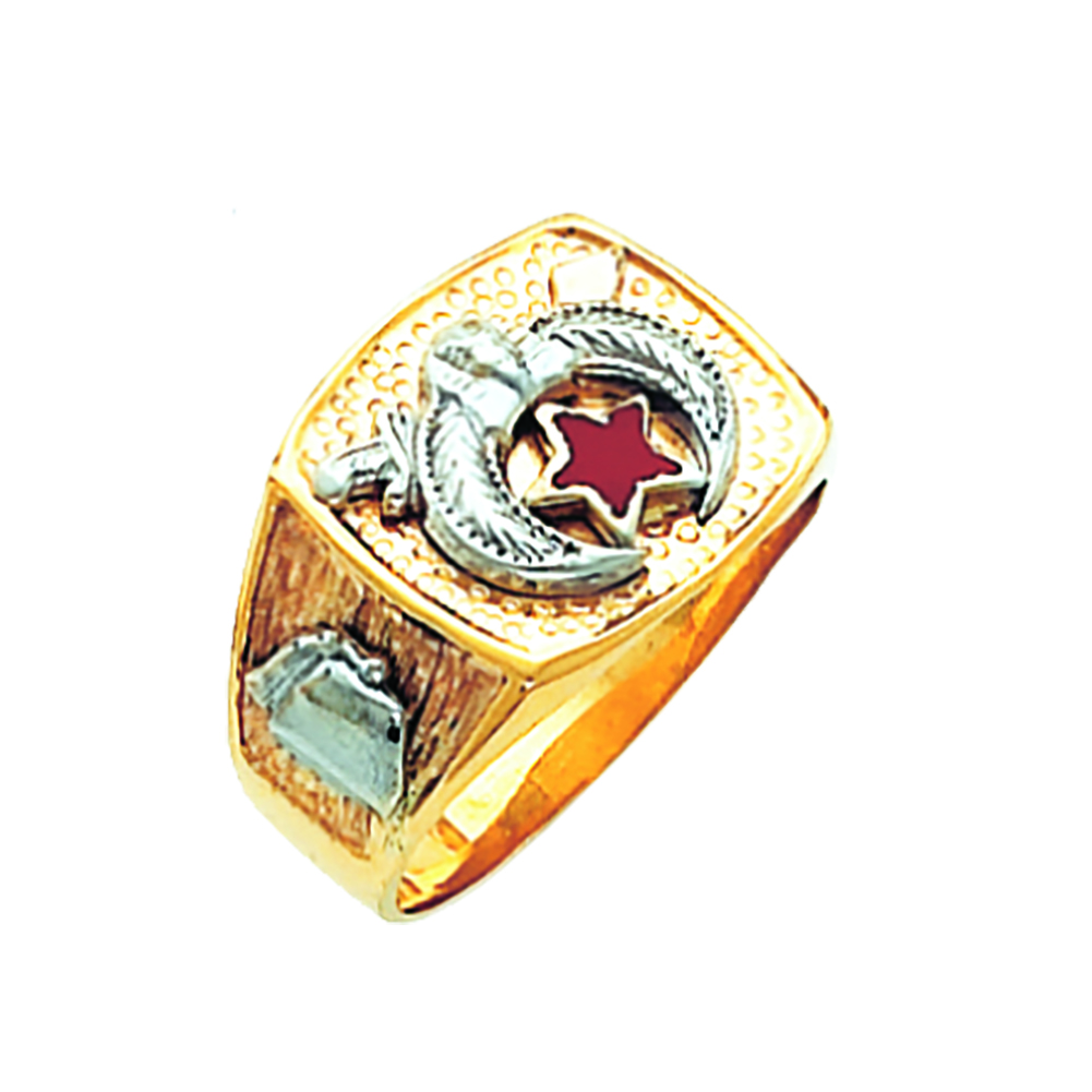 Shriner Ring - Solid Back in 10K Gold (14)