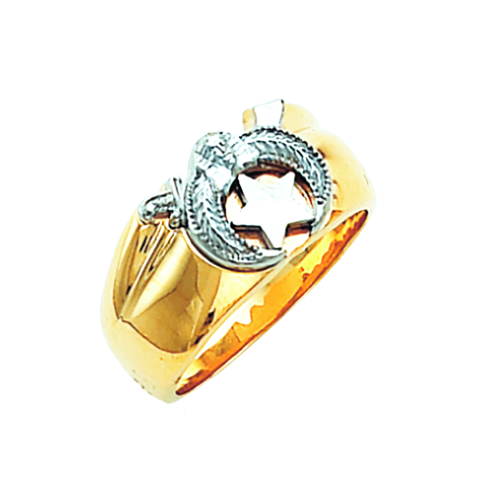 Shriner Ring - Open Back in 10K Gold (11)